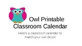 Owl Themed Classroom Calendar