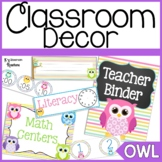 Owl Themed Classroom Decor and Organization
