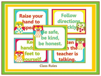 Owl Themed Classroom Decoration Pack