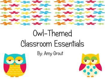 Owl-Themed Classroom Essentials