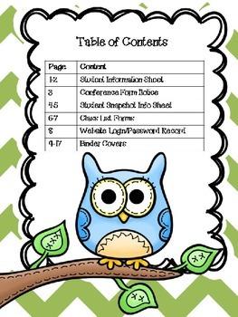 Editable Owl Themed Classroom Forms