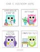 Owl Themed Classroom Job Chart