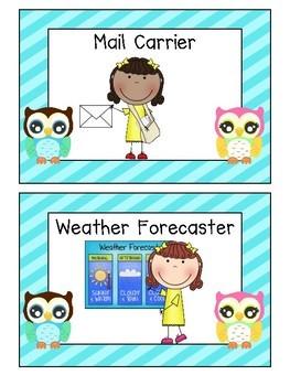 Owl Themed Classroom Job Signs