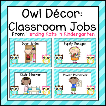 Owl Classroom Decor: Job Signs