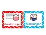 Owl Themed Classroom Jobs :