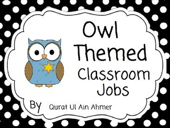 Owl Themed Classroom Jobs: