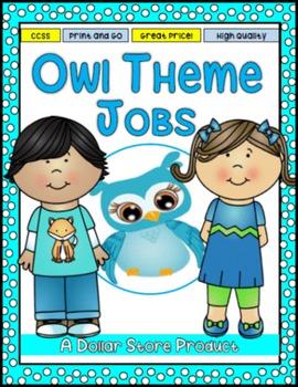 Owl Themed Classroom Jobs - EDITABLE