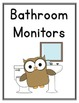 Owl Themed Classroom Jobs Posters