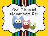 Owl Themed Classroom Kit