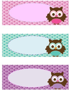 Owl Themed Classroom Labels