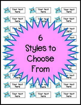 Owl Themed Classroom Labels - EDITABLE