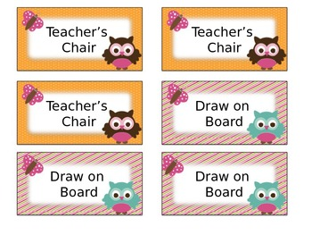 Owl Themed Classroom Management Positive Reward Tickets Editable