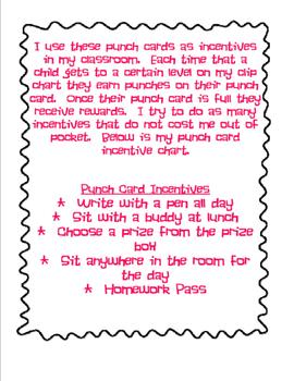 Owl Themed Classroom Management Punch Cards