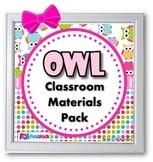 Owl Themed Classroom Materials Pack (EDITABLE Materials, too!)