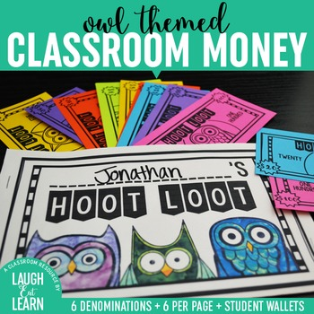 Owl Classroom Money {Hoot Loot}