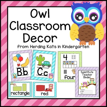 Owl Themed Classroom Poster Decor Bundle