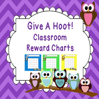 Owl Themed Classroom Reward Charts for Classroom Decor and Management