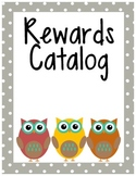 Owl Themed Classroom Rewards Catalog for Classroom Management