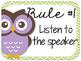 Owl Themed Classroom Rules {Editable}