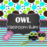 Owl Themed Classroom Rules ~Editable~