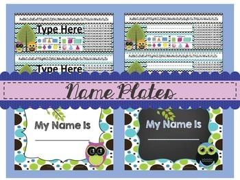 Owl Themed Classroom Rules ~Editable~