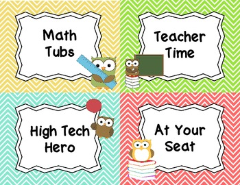 Owl Themed Classroom Set
