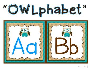 Owl Themed Classroom Set - Brown, Blue, and Tan