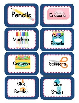 Owl Themed Classroom Supply Tags