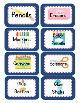Owl Themed Classroom Supply Tags