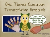 Owl Themed Classroom Transportation Bracelets