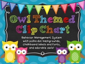 Owl-Themed Clip Chart