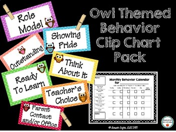 Owl Themed Clip Chart