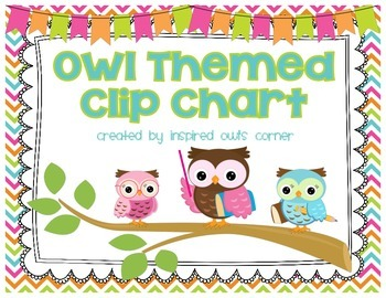 Owl Themed Clip Chart {With Chevron, Stripes, and Polka Dots}