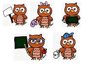 Owl Themed Clipart