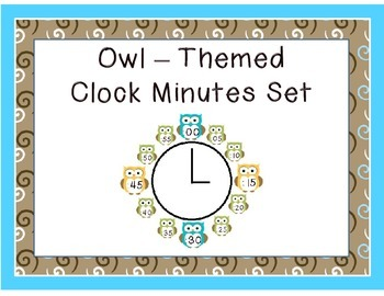 Owl Themed Clock Minutes