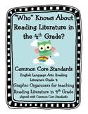 Owl Themed Common Core Reading Literature Graphic Organizers for 4th Grade