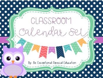 Owl Themed Complete Calendar Set