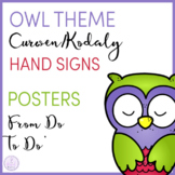 Owl Themed Curwen/Kodaly Hand Sign Posers