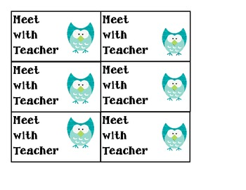 Owl Themed Daily 5 Chart Labels