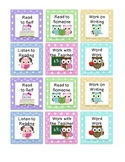 Owl Themed Daily 5 Rotation Cards