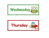 Owl-Themed Days of the Week Printable Cards