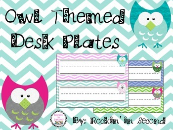 Owl Themed Desk Plates/Headers