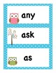 Owl Themed Dolch First Grade Sight Word Vocabulary