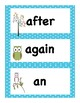 Back to School Owl Themed Dolch First Grade Sight Word Vocabulary