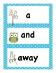 Back to School Owl Themed Dolch Pre Primer Vocabulary Sight Words