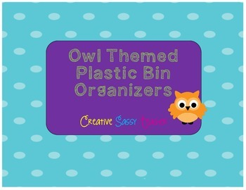 Owl Themed Drawer Organizers