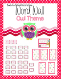 Owl Themed Editable Word Wall