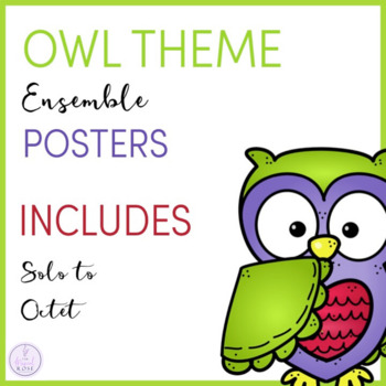 Owl Themed Ensemble Posters