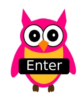 Owl Themed Enter/Exit Signs