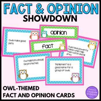Owl-Themed Fact and Opinion Cooperative Learning Showdown